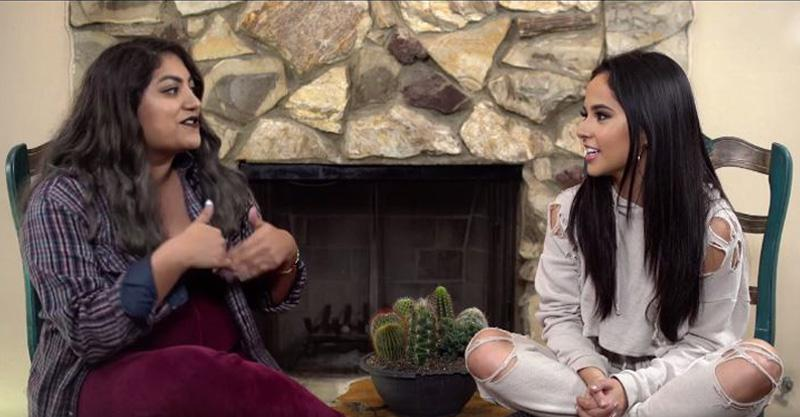 Becky G Surprised With Nostalgic Gifts During A Live Chat at Mitú